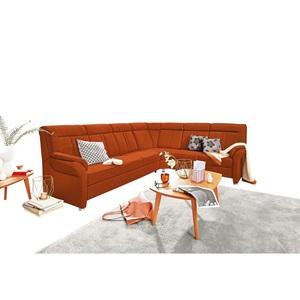 SYSTEMPOLSTER Polsterecke MALAGA Stoffbezug Orange ca. 306 x 248 cm