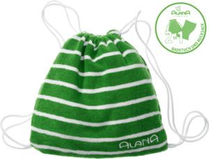 ALANA Kinder-Rucksack-Badetuch  2in1, 65x120cm, in Bio-Baumwolle, grün, weiß, für Mädchen und Jungen
