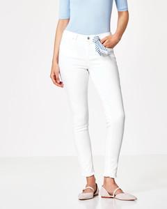 Skinny-Jeans mit Streifen-Bandana