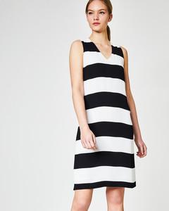 A-Linien Kleid mit Blockstreifen