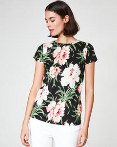 T-Shirt mit Maxi-Blütenprint