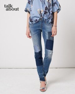 talkabout - Patch Jeans mit Destroyes