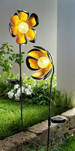 """Solar-Gartenstecker """"Shiny Flower"""", 2er-Set"""