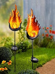 """Solar-Gartenstecker """"Fire"""", 2er-Set"""