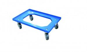 Surplus Rollwagen für Euronormbox blau, mit Feststellbremse, 60 x 40 cm