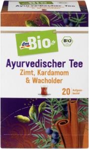 dmBio Früchte- & Kräuter-Tee, Ayurvedischer Tee mit Zimt, Kardamom & Wacholder (20x2g)