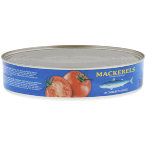 Makrele in Tomatensoße