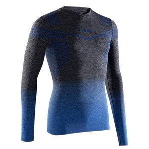 KIPSTA Funktionsshirt langarm Keepdry 500 atmungsaktiv Erwachsene blau, Größe: S