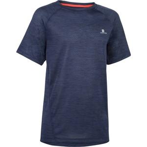 DOMYOS T-Shirt Kurzarm S500 Gym Kinder marineblau, Größe: 5 J. - Gr. 110