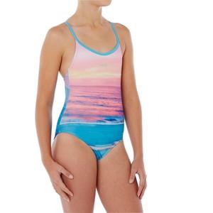 NABAIJI Badeanzug Riana Mädchen blau, Größe: 6 J. - Gr. 116