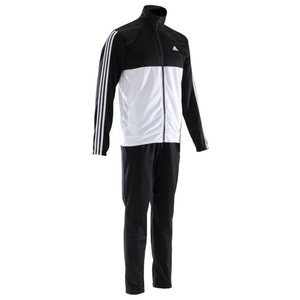 ADIDAS Trainingsanzug Shiny Herren schwarz/weiß, Größe: S