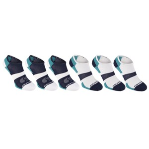 ARTENGO Tennissocken RS 160 low 6er-Pack türkis/blau, Größe: 35/38