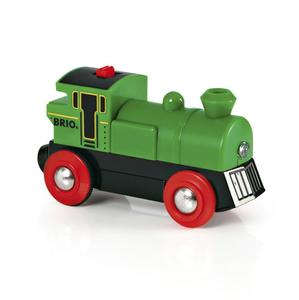 BRIO World Grüner Gustav Batterielok