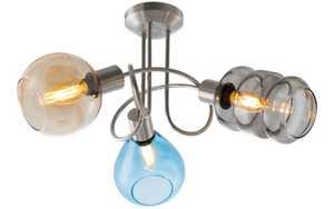 Nino Leuchten - Deckenleuchte Pesaro in nickel matt, 3-flammig