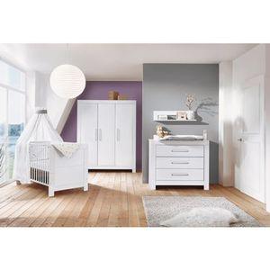 SCHARDT   3-tlg. Babyzimmer Nordic White mit 3-türigem Kleiderschrank