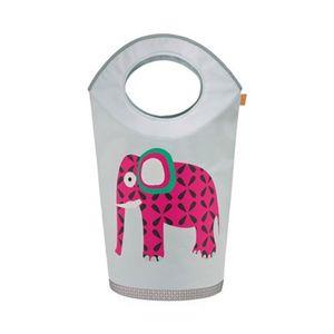 LÄSSIG   Wäsche- und Aufbewahrungsbox Elefant/grau