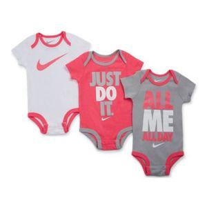 Nike 3 Pack Swoosh Romper - Baby Tracksuits