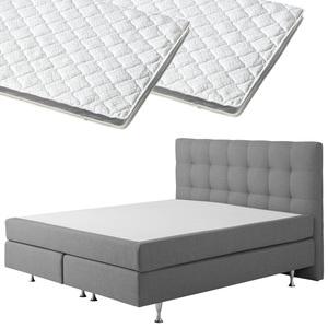 Boxspringbett-Set SCHLARAFFIA® Nordic/ErgoMAXX® Gel Touch® Visko-Gelschaum-Topper (90x200, 2 Topper)