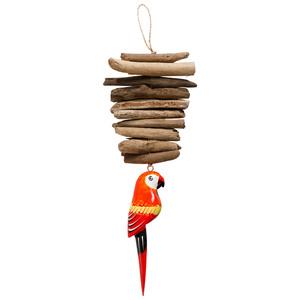 Treibholzkette Papagei