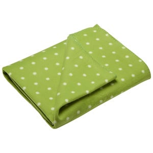 Fleecedecke Jonne (130x180, Punkte, grün)