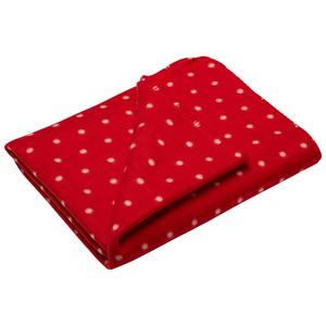 Fleecedecke Jonne (130x180, Punkte, rot)
