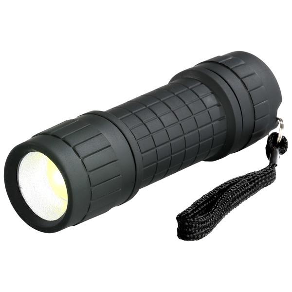 LED-Taschenlampe (batteriebetrieben, schwarz)