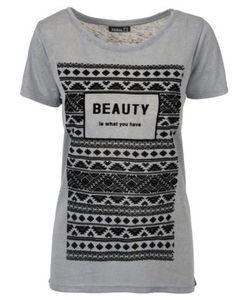 T-Shirt - Samt-Druck