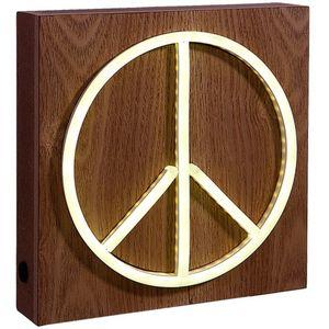 """Lichtobjekt """"Peace"""" 21x21x5cm"""