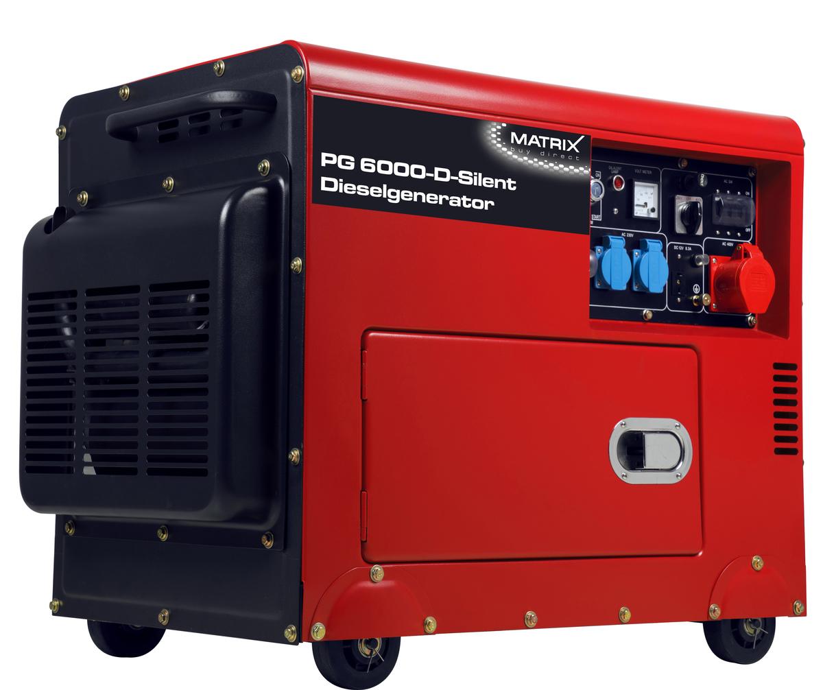 Bild 2 von Matrix Diesel Stromgenerator PG 6000-D-Silent