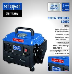 Scheppach Stromgenerator SG950, 720W