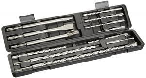 FAMEX 9158-12 SDS-Plus Hammerbohrer- & Meißelsatz 12 tlg.