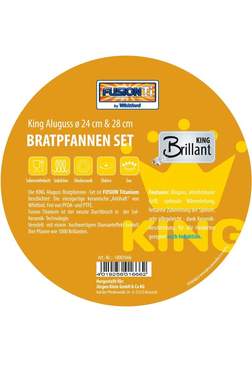 Bild 2 von KING Bratpfannen Set Fusion TI ø 24 + 28 cm kupfer
