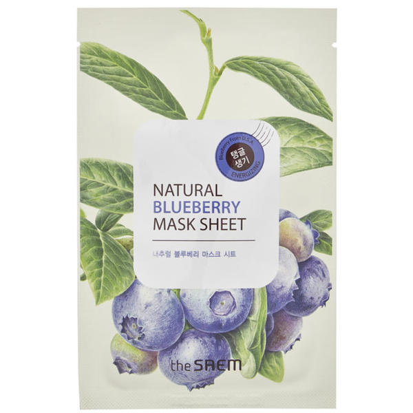 the SEAM Natural Blueberry Mask Sheet 9.29 EUR/100 ml