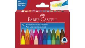 FABER-CASTELL Wachsmalstifte Castell dreikant 24er-Kartonetui