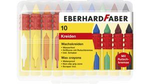 EBERHARD FABER Wachsmalkreiden wasserfest in 10er-Kunststoffbox