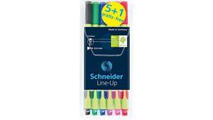 Schneider Line-Up Fineliner 0,4 mm 5+1er-Etui