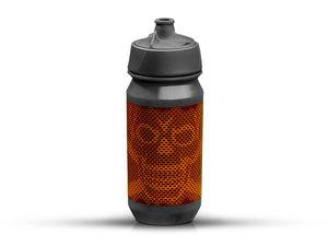 Rie:sel Design bot:tle Trinkflasche   0,5 Liter   skull honeycomb orange