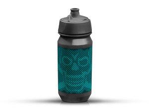 Rie:sel Design bot:tle Trinkflasche   0,5 Liter   skull honeycomb blue