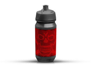 Rie:sel Design bot:tle Trinkflasche | 0,5 Liter | skull honeycomb red