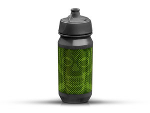 Rie:sel Design bot:tle Trinkflasche | 0,5 Liter | skull honeycomb green