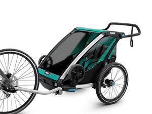 Thule Chariot Lite Multisport-Fahrradanhänger | 2 Kinder | blue grass black