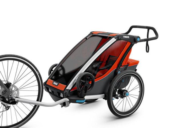 thule chariot cross multisport fahrradanh nger 1 kind roarange dark shadow von lucky bike. Black Bedroom Furniture Sets. Home Design Ideas