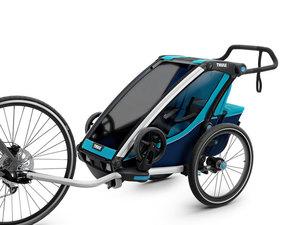 Thule Chariot Cross Multisport-Fahrradanhänger | 1 Kind | blue poseidon