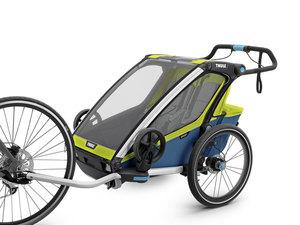 Thule Chariot Sport Multisport-Fahrradanhänger | 2 Kinder | chartreuse mykonos