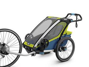 Thule Chariot Sport Multisport-Fahrradanhänger | 1 Kind | chartreuse mykonos