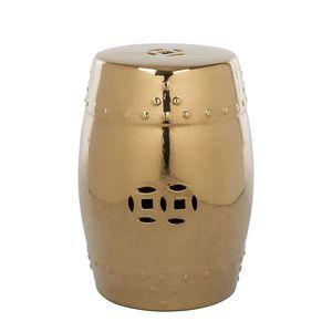 Keramikhocker Ming - Gold, Safavieh