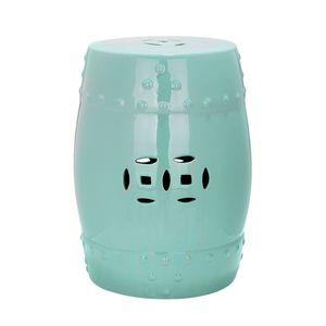 Keramikhocker Ming - Aqua, Safavieh
