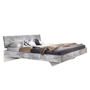Bett Sumatra - 160 x 200cm - Vintage Grau / Weiß, Rauch Select