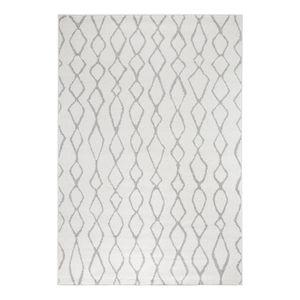 Teppich Bolonia II - Kunstfaser - Cremeweiß / Grau - 80 x 200 cm, andiamo