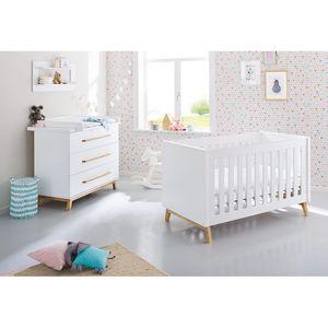 Babyzimmerset Riva Kids (2-teilig) - Weiß / Esche, Pinolino